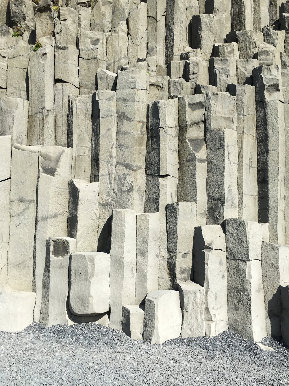 Basalt Comuns at Reynisfjara Beach (Black Sands Beach)