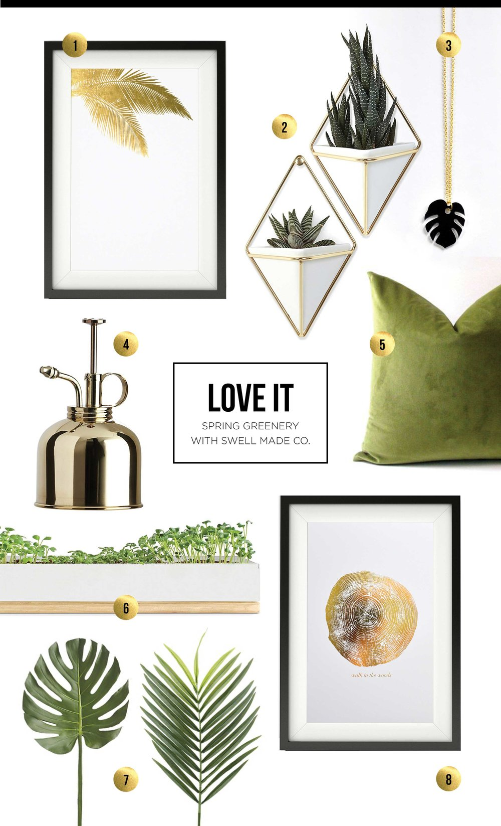 LOVE IT - Spring Greenery with Swell Made Co.