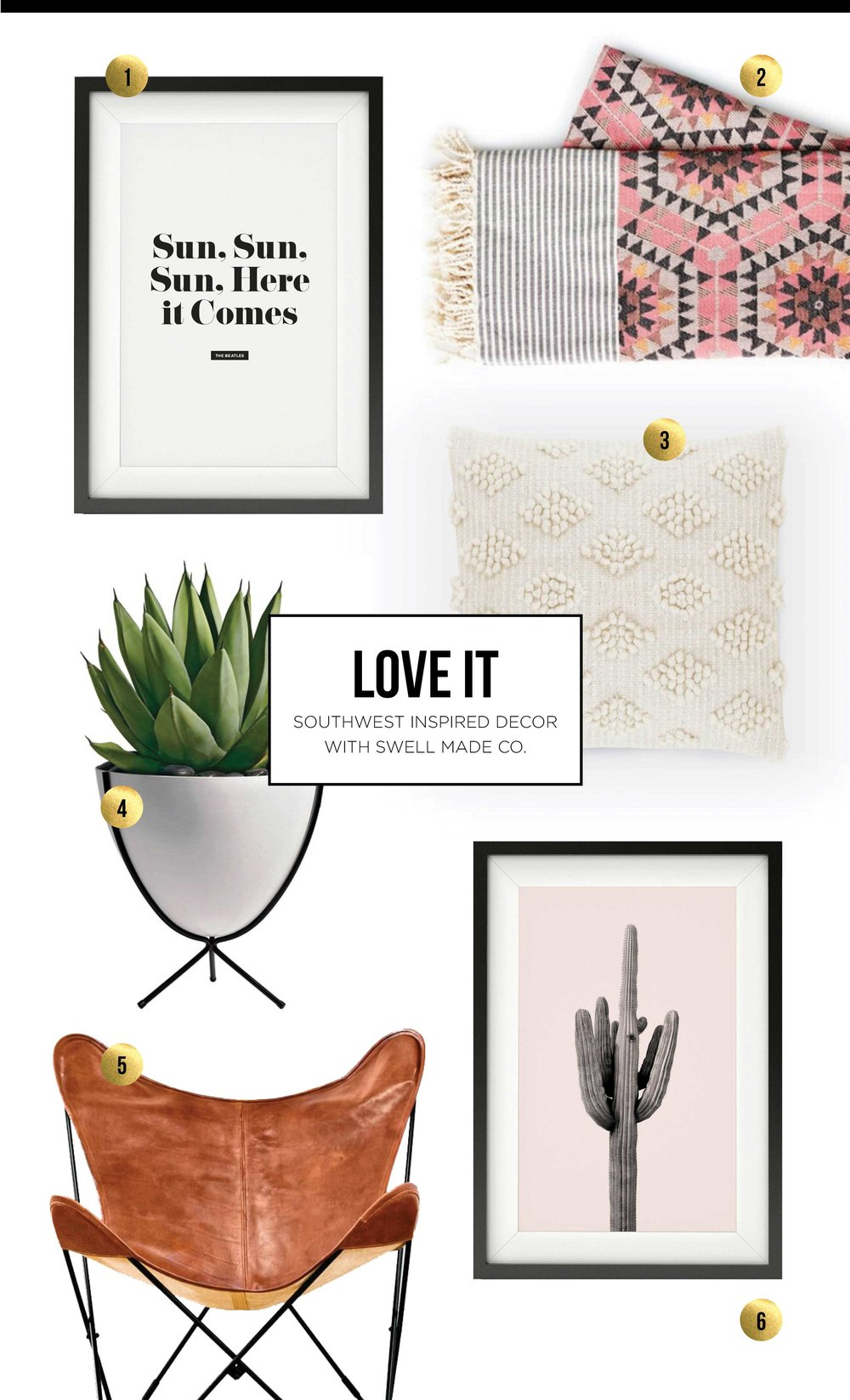 LOVE IT - Southwest inspired decor with Swell Made Co.