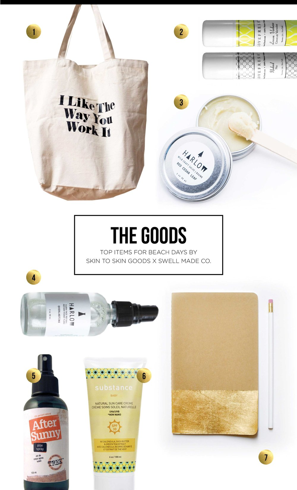 LOVE IT - Top items for beach days by Skin to Skin Goods and Swell Made Co.