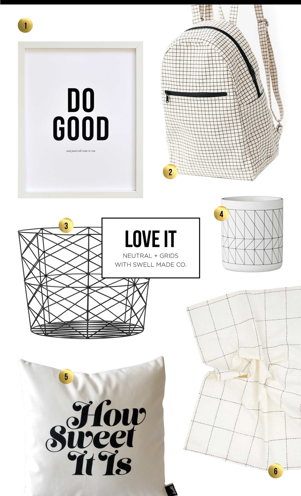 LOVE IT - Neutral Palette + Grid Patterns with Swell Made Co.