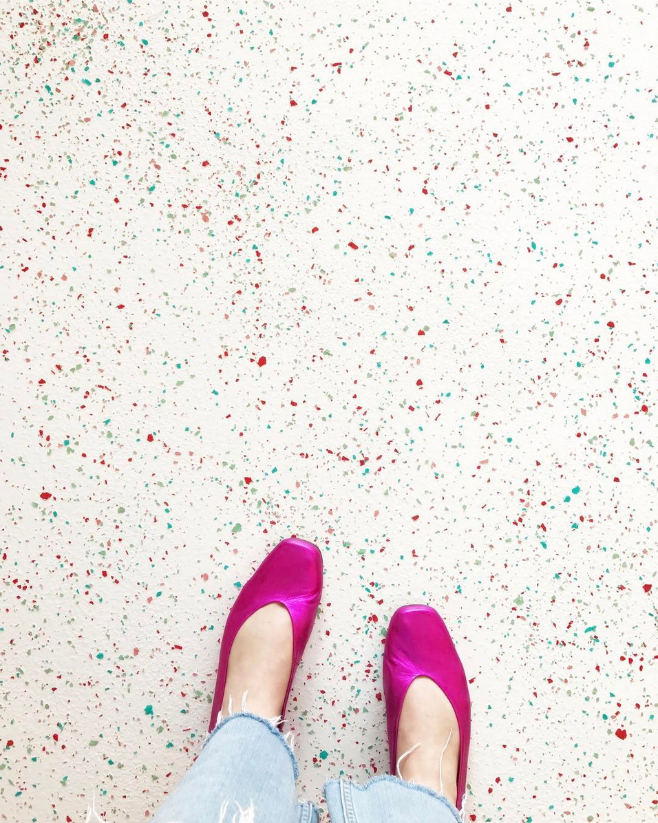 Terrazzo Floor at Cafe Cancan. Interior Design by Tiffany Pratt.