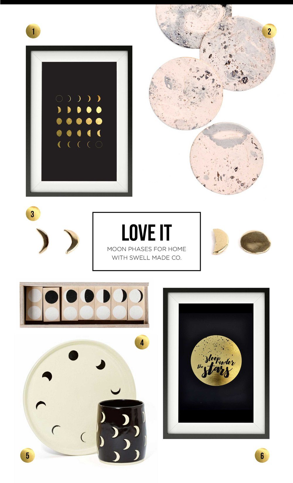 LOVE IT | Moon phases for the home with Swell Made Co.