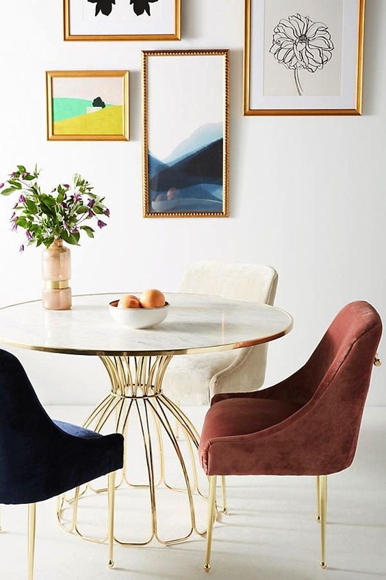 Velvet Elowen Chair from Anthropologie