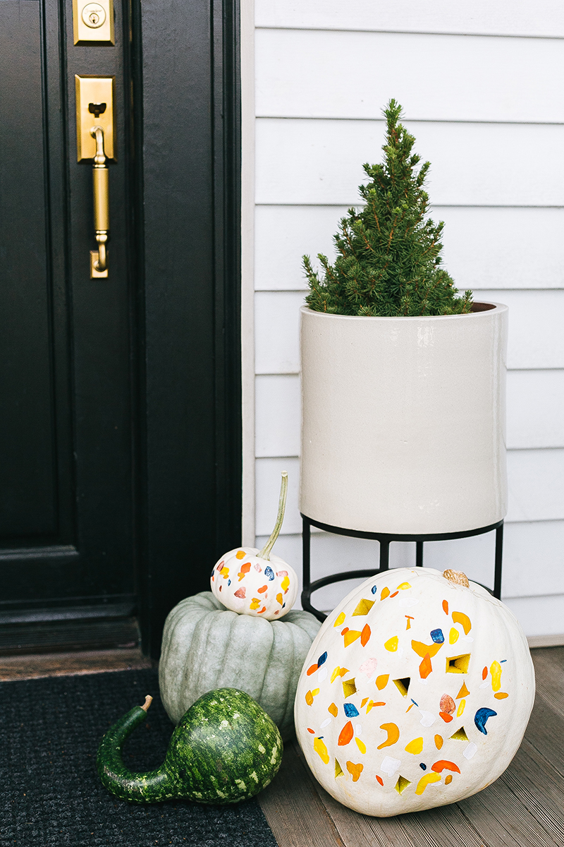 Terrazzo Pumpkin DIY by    JoJoTastic