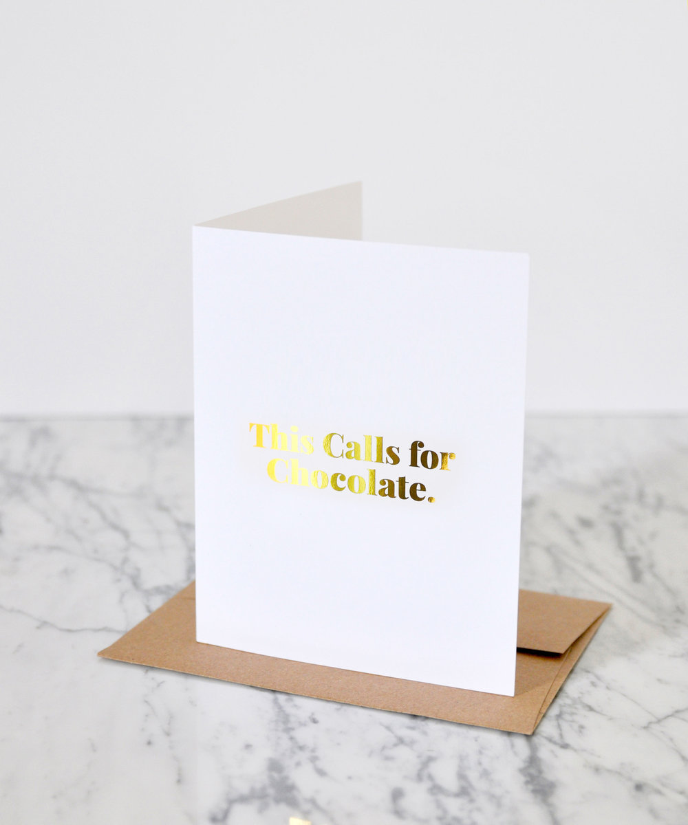 This Calls for Chocolate Card | A collaboration by Swell Made Co. + Ecole Chocolat