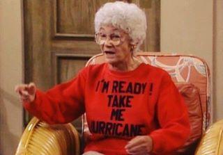 take me, this sweater has me slain 🗡 #goldengirlsootd