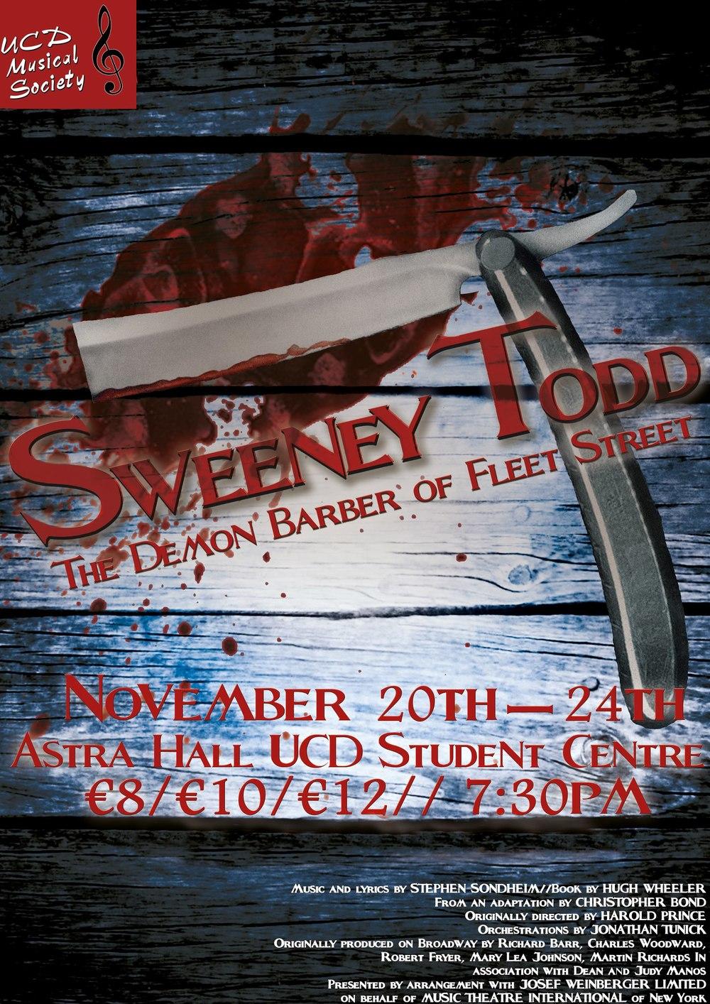 Sweeney Todd, November 2012
