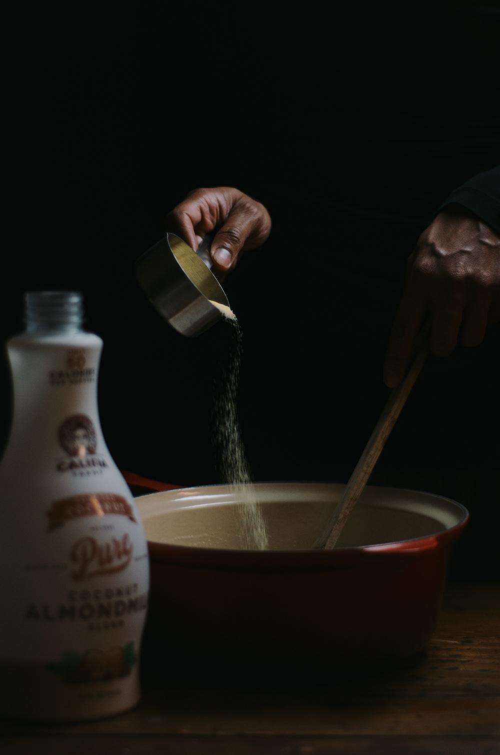 baked polenta coconut almond milk pudding with burnt sugar blood orange sauce2.jpg