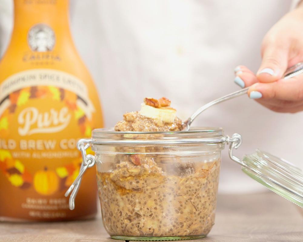 Image: Califia Farms - Pumpkin Spice Latte Overnight Oats