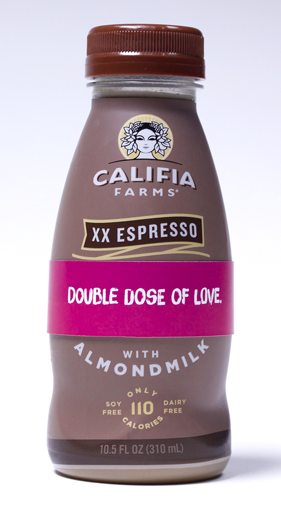 Image: Califia Farms - Single Serve Valentine Tags - Double Dose of Love