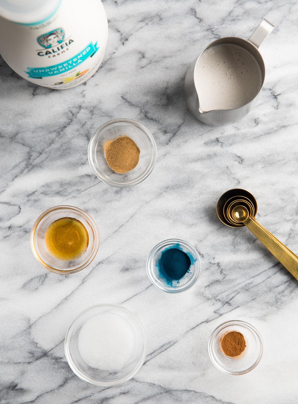 Blue Mood latte ingredients
