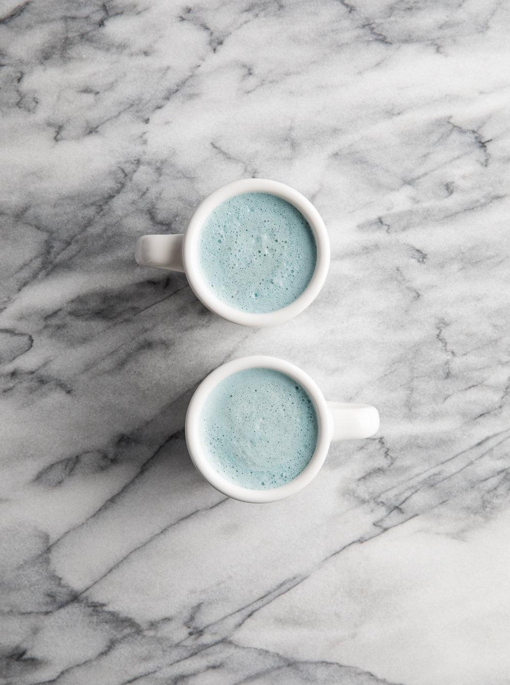 Blue mood latte