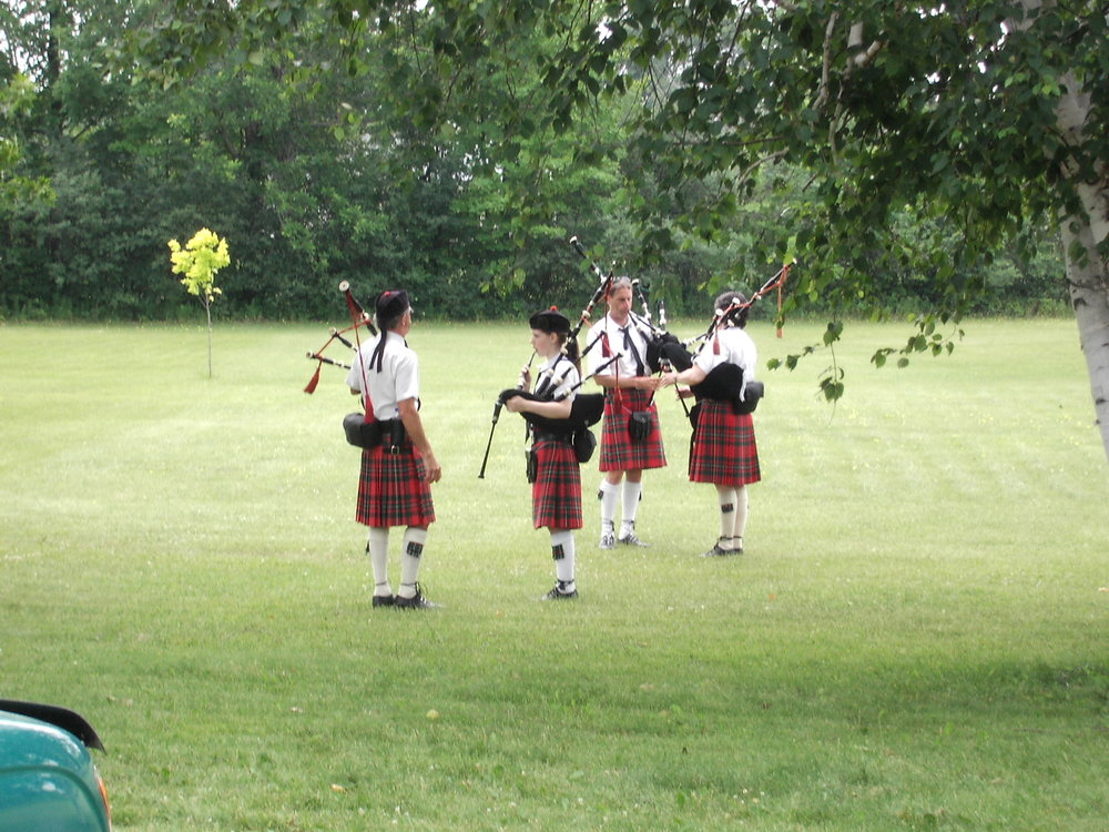 Pipes and Drums in Merrickville