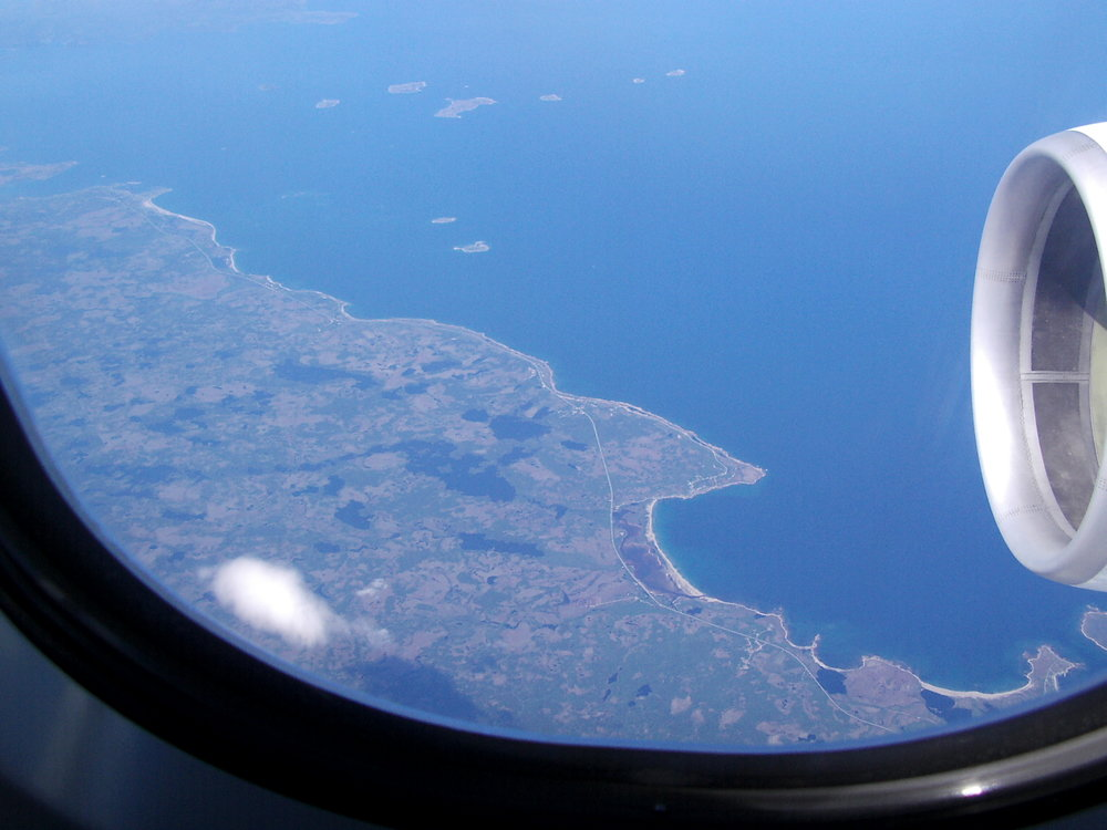 Anflug über die Ostküste -