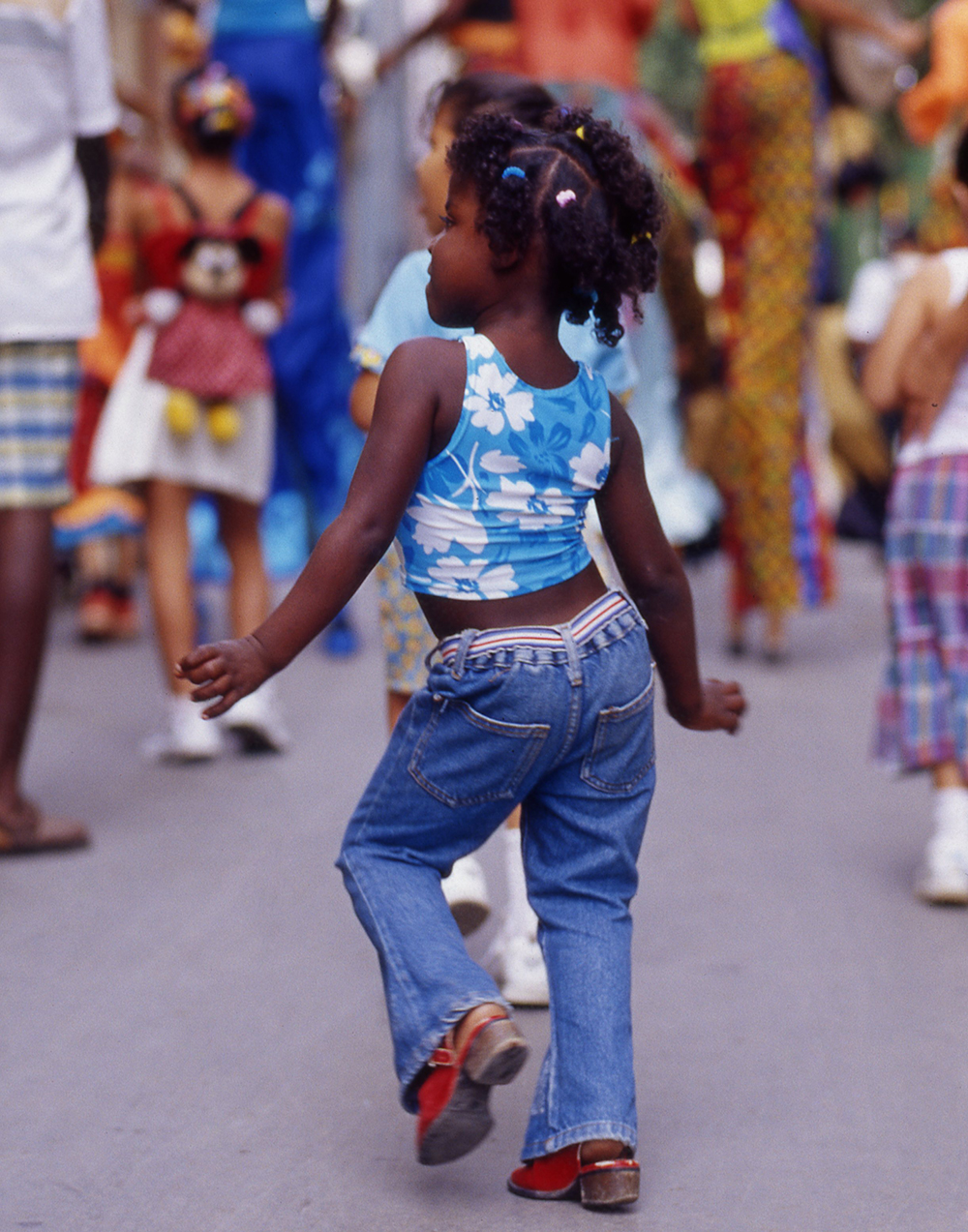 Child Dancing in Street