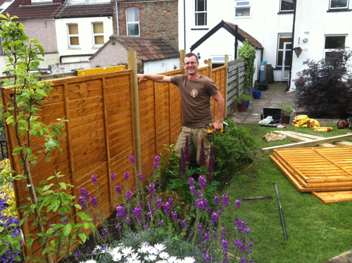 Professional fence erecting