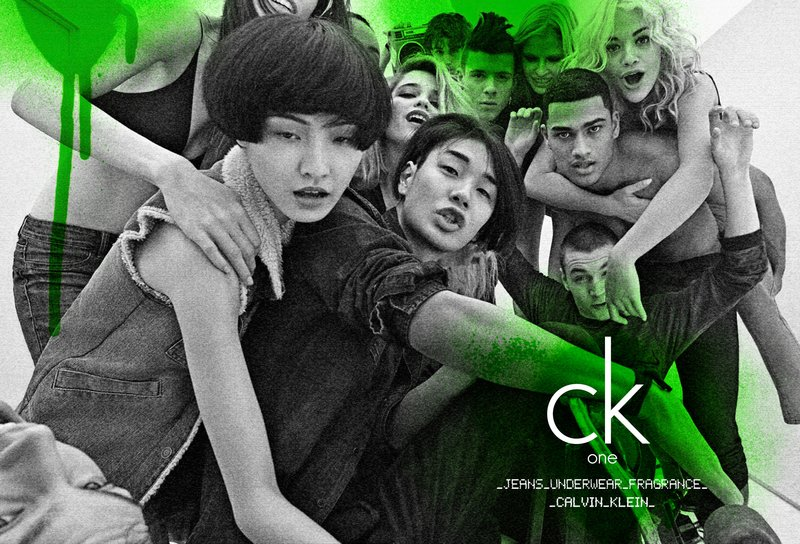 "Lara Stone, Ruby Aldridge, Wang Xiao, Rita Ora , Yuri Pleskun, Tomoaki Kurata, Rob Evans, Aaron Frew & Sky Ferreira for CK One ""In The Box"" Campaign SS11 Photographed by Steven Meisel"