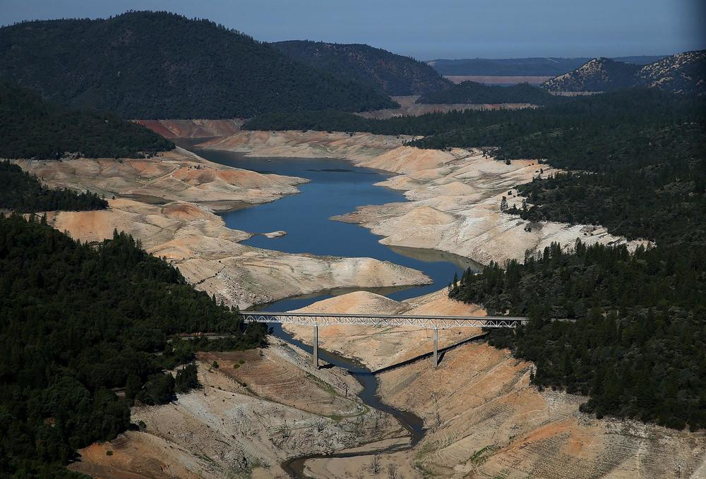 Lake Oroville on Aug. 19, 2014, photo by Photo by Justin Sullivan