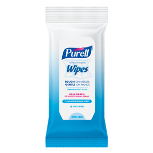 Refreshing Sanitizing Wipes 15 Count