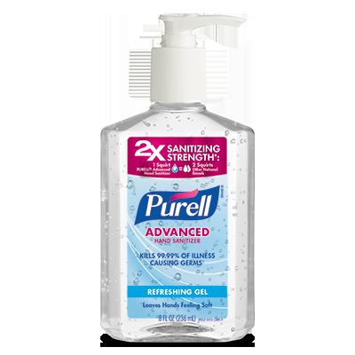 PURELL ®Advanced  Hand Sanitizer Refreshing Gel   8 fl oz Pump Bottle
