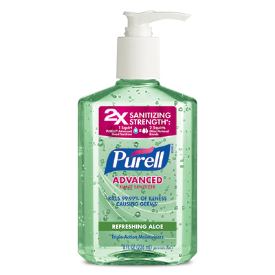 PURELL®Advanced Hand Sanitizer Refreshing Aloe 8 fl oz Pump Bottle