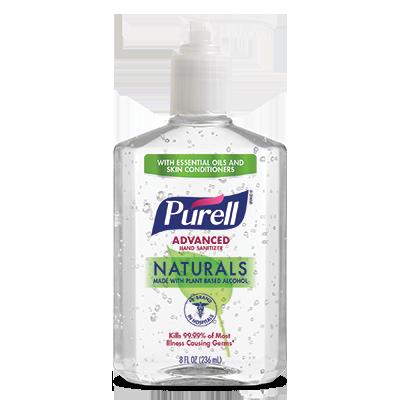 PURELL ®Advanced  Hand Sanitizer Naturals   8 fl oz Pump Bottle