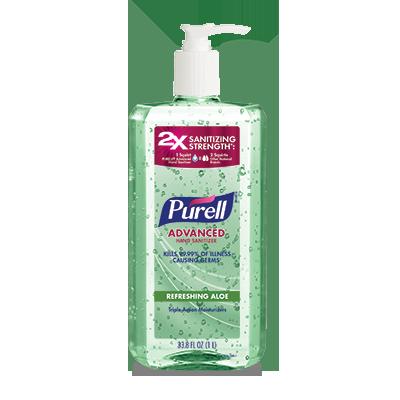 PURELL ®Advanced  Hand Sanitizer Refreshing Aloe   1 Liter Pump Bottle