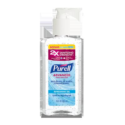 PURELL®Advanced Hand Sanitizer Refreshing Gel 8 fl oz + 25% Free Pump Bottle