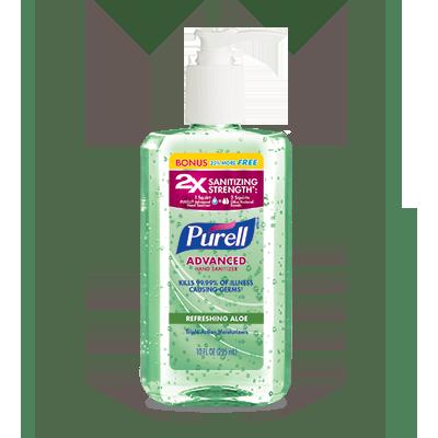 PURELL®Advanced Hand Sanitizer Refreshing Aloe 8 fl oz + 25% Free Pump Bottle