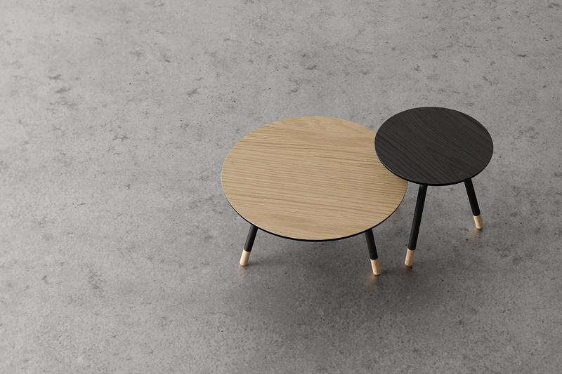 Solar eclipse! Bison table har korkfot og to forskjellige størrelser som gjør at de kan minne om to planeter som møtes. Fås også påRøst i Oslo og Bergen.