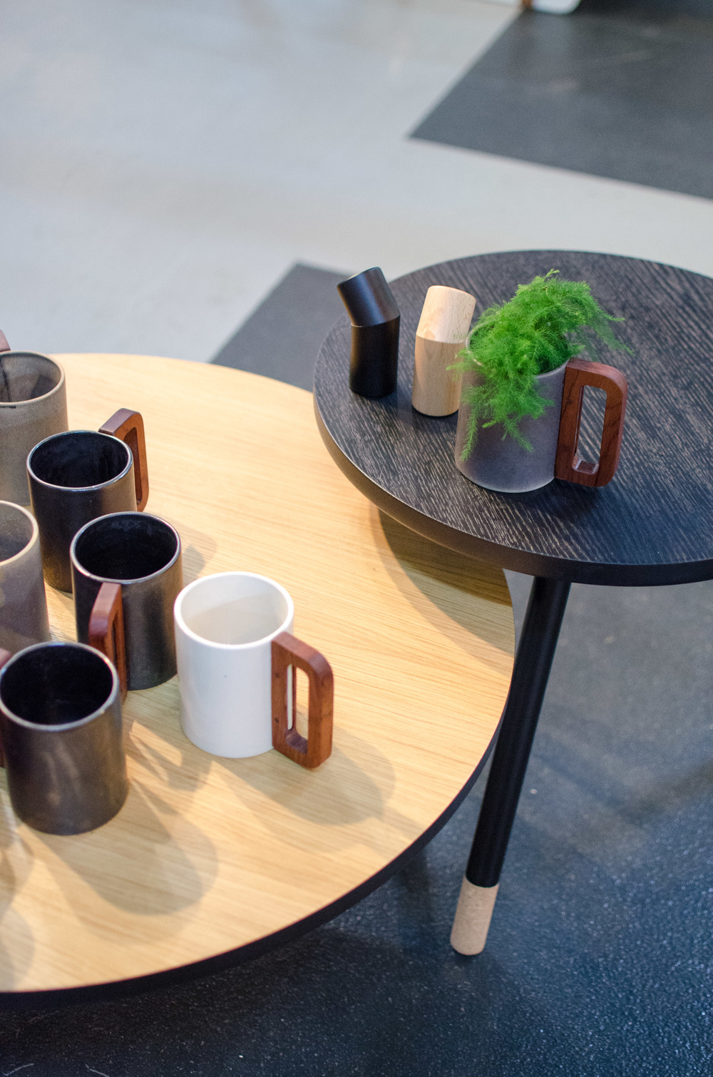 The beautiful handmade ceramic mugs with wooden handles from Matimañana were a big hit on the fair Interiør og Boligmessen.