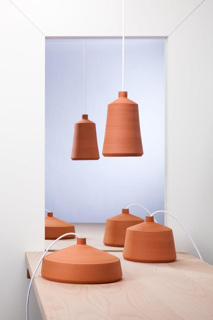 Flame serie terracotta lamper