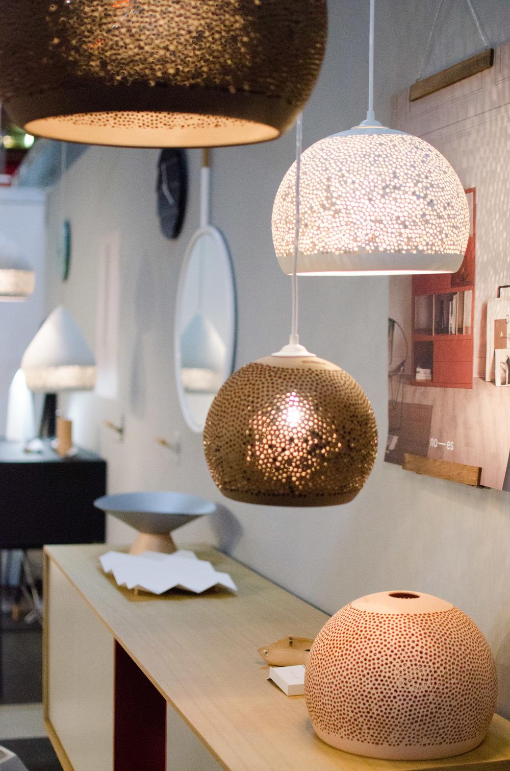 pott lampe sponge bolig og interiørmessen