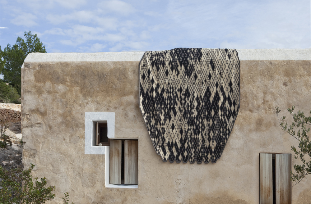 Losanges rug on a traditional spanish finca - by Bouroullec for Nani Marquina.