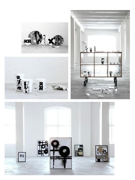 Ylva Skarp er best kjent for sin karakteristiske kalligrafi og har nå lansert en rekke produkter med trykk på tekstil og porselen.