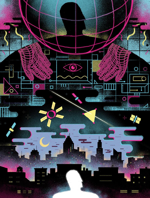 Singularity Illustration about the technological evolution digital illustration, 2016 AD: Rick Sealock