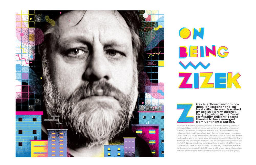 Spread Mock Up for an article on Slavoj Zizek 2016