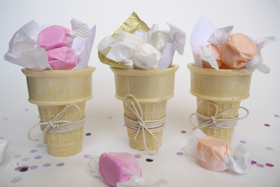 taffy cone party favors