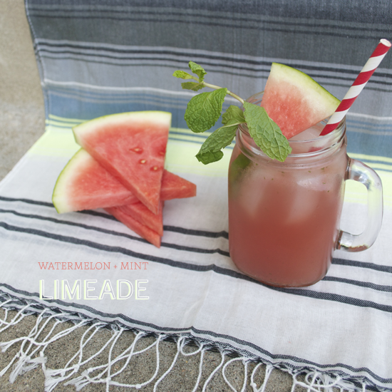 watermelon mint limeade