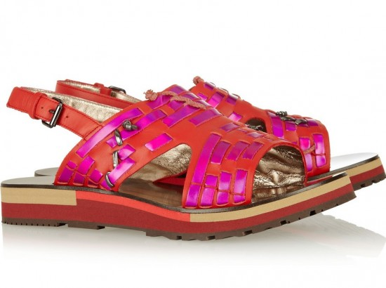 Lanvin Holographic Sandal