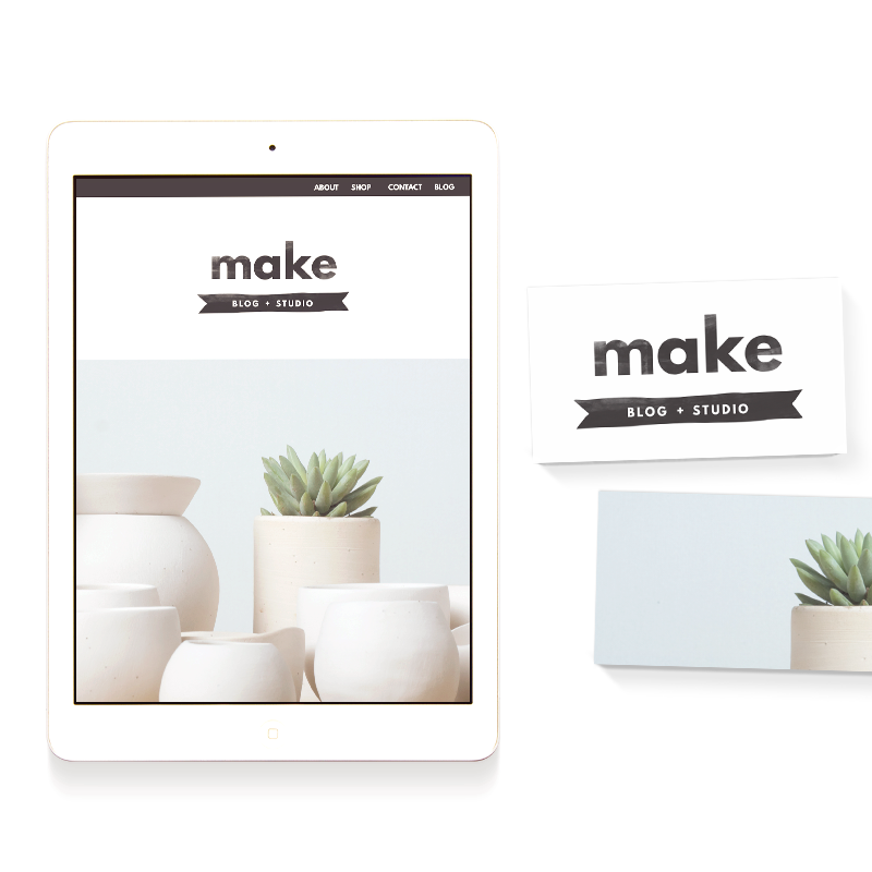 make blog and studio template
