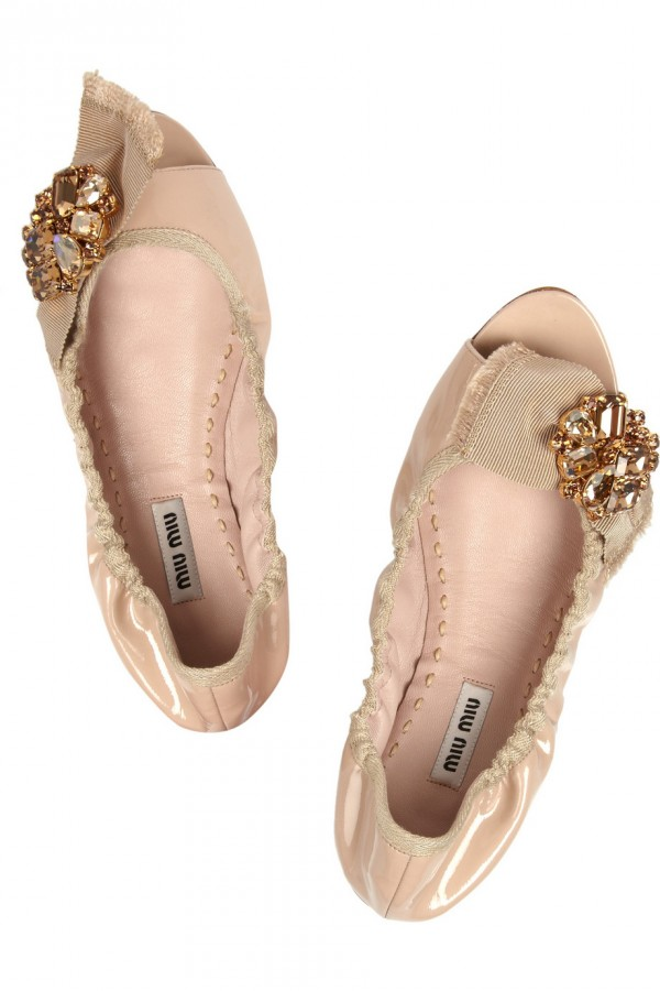 Miu Miu Patent Leather Ballet