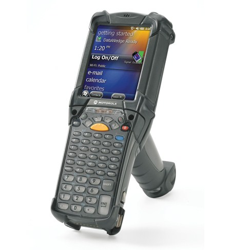 Motorola MC9190 - You can count on dependable scanning of virtually any bar code — even if the label has been damaged. With the next generation of the highly successful MC9000-G Series in hand, scanning is easier than ever, with point and shoot simplicity for bar codes that are inches or meters away, on the top shelves in the warehouse or deep inside a truck.