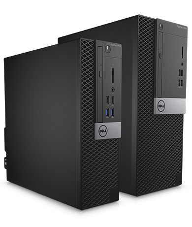 OptiPlex Desktop 3000 Series - Compact and space-saving back office desktop solutions.