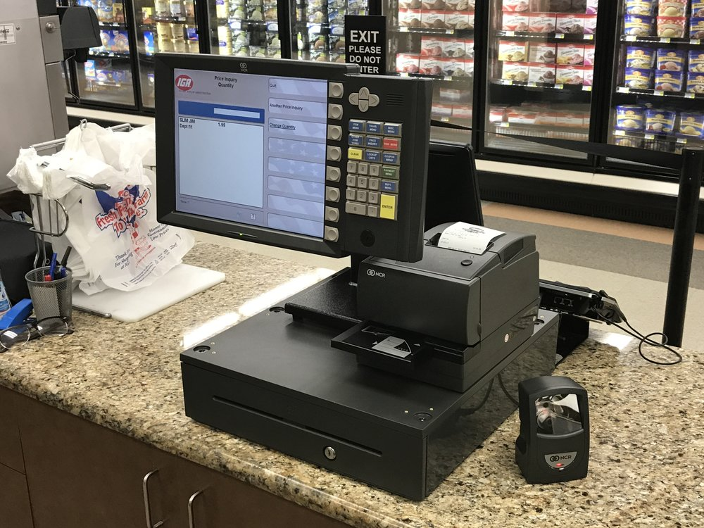 Kingstree IGA. - New system installed.