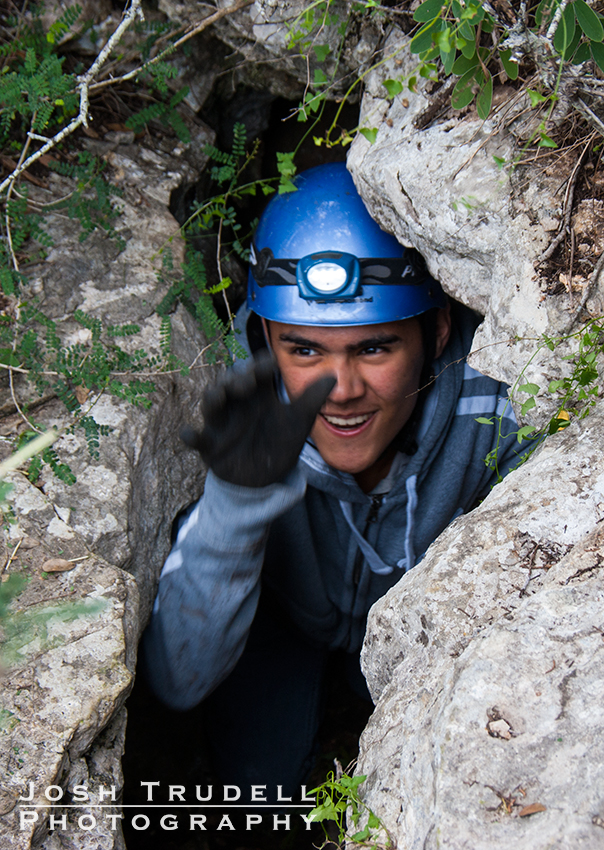 josh trudell photography caving san antonio