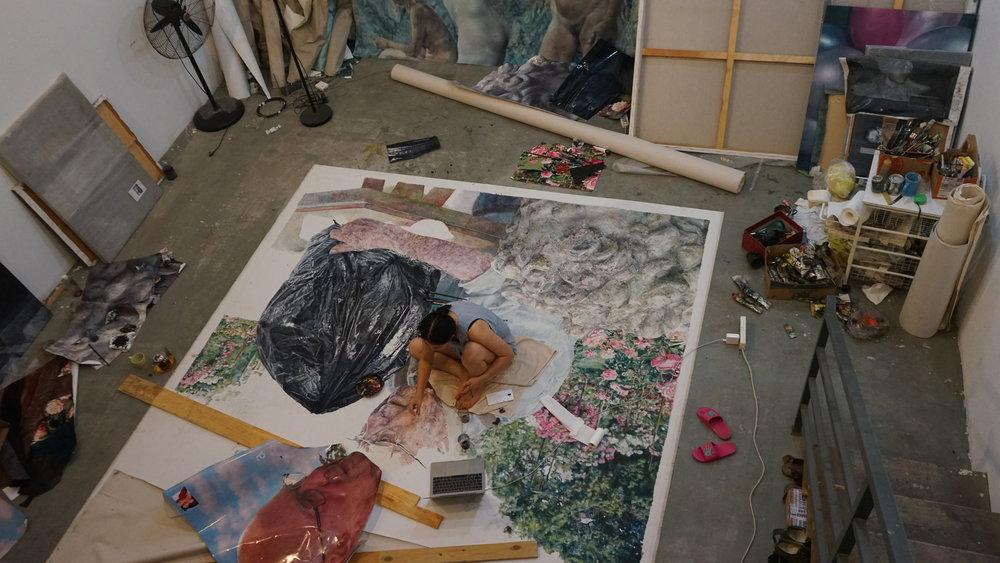 Jing in her Studio in Beijing.