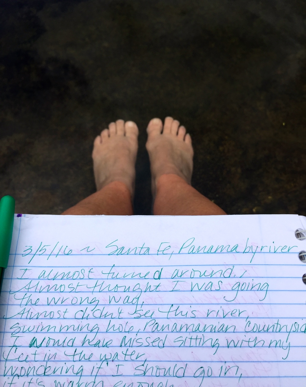 Riverside writing.