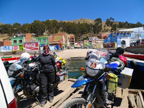 This photo is a ferry crossing in Bolivia, on  my travels  to the southern tip of South America.